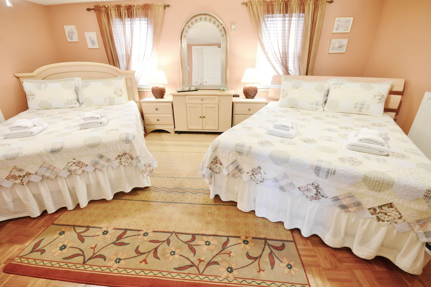 Second Floor Suite - Large Bedroom with two queen beds