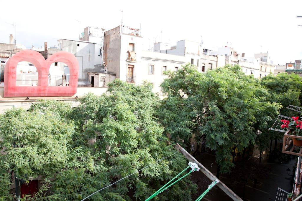 Vistas del apartamento.