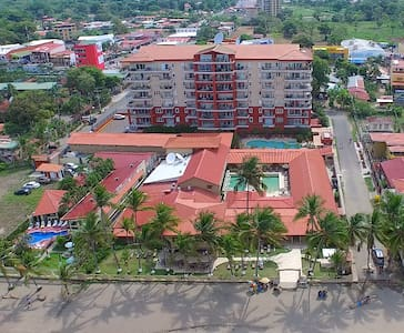 Casa Cocal 2 Bedroom Mini-Villa right next to the Cocal Hotel & Casino and Vista Mar Condos. You get unlimited access to the Cocal Hotel, Tiki Bar, Pools, Casino, and Restaurant where Jaco's biggest party takes place every night.