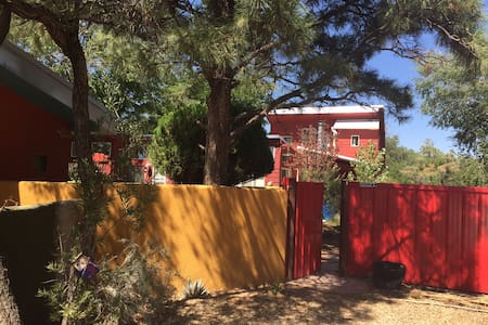 A diamond in the rough...an oasis from city living, this one bedroom Casita with private bath and entry is perfect for 2 travelers looking to explore Albuquerque.  Located centrally to most attractions, yet feels like living in the country.