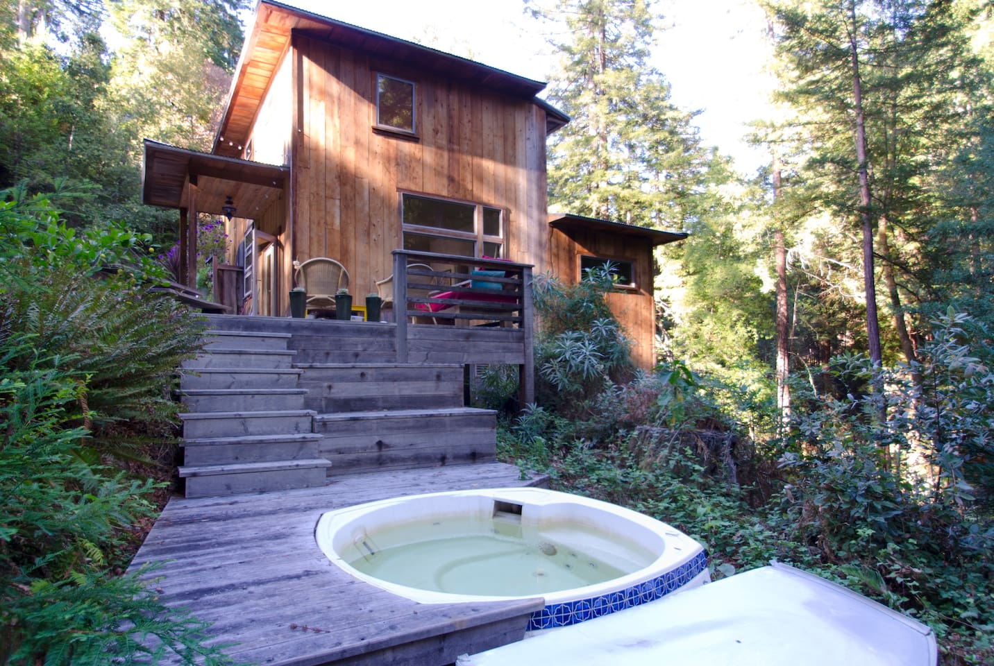 Redwood Retreat with Hot Tub.  Need we say more?