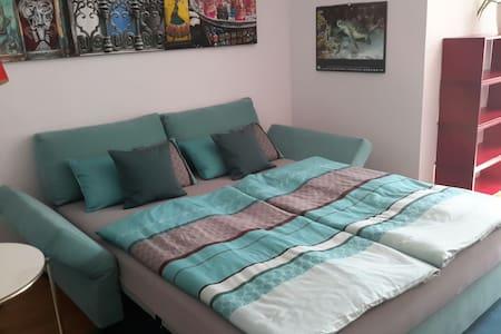 Helle 21 qm mit Bad en suite und TV - Apartamento