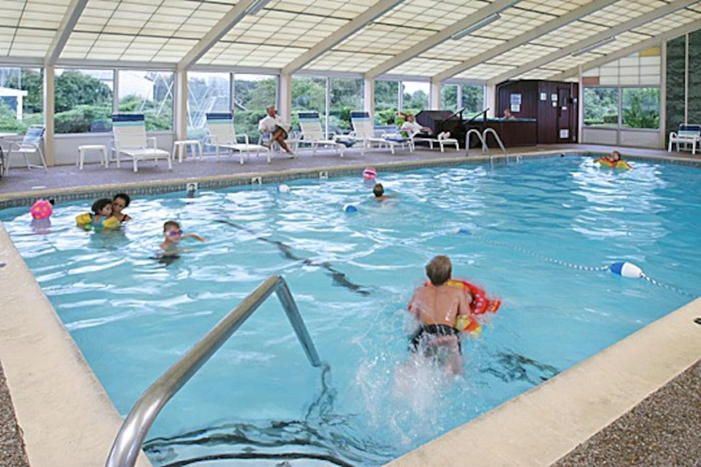 Enjoy our Indoor Pool when visiting Cape Cod