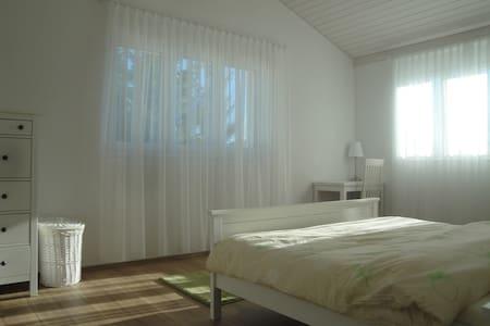 Zimmer im Grünen, nahe am See