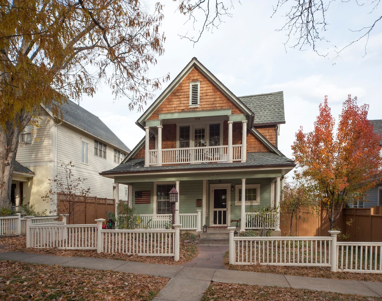 Location Location, Location. 2 blocks from Pearl Street - walk or bike everywhere. No car needed. Our home is 112 years old and has been completely restored. Our location @ 17th & Mapleton is right in the Heart of the Downtown Historic district.