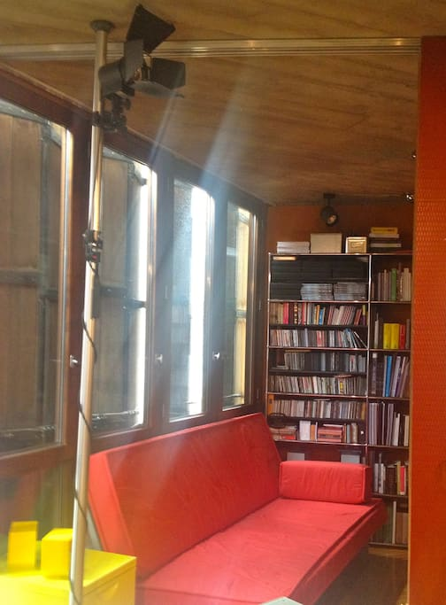 Our space for rest or sleep, with musics and books