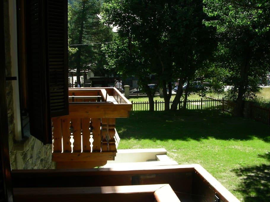 Il balcone della camera da letto