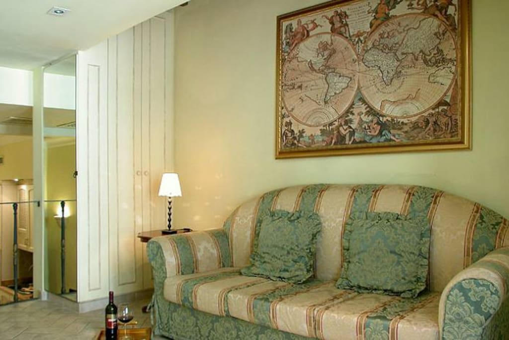 Upper level, double comfortable sofabed