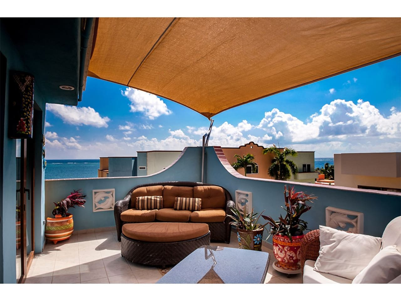 deck off of master with awesome views and sails for shades