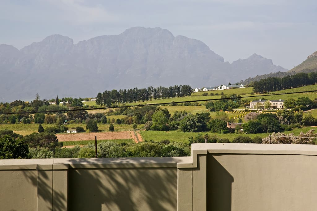 Close-up of view of Simonsberg with Paradyskloof farms below