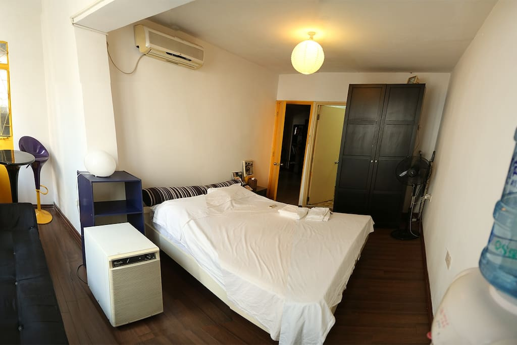 Spacious room, King size bed, Unfoldable sofa bed