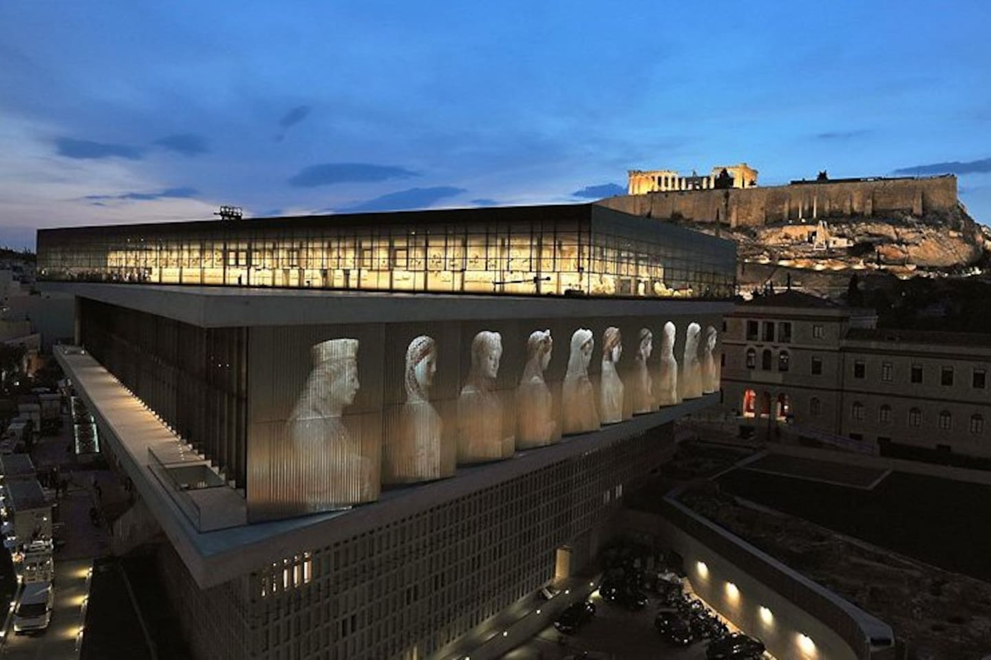 Acropolis and its museum are in 5 minutes walk distance.