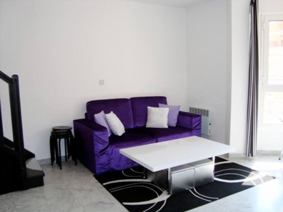 Room in a Design bright appartment.
