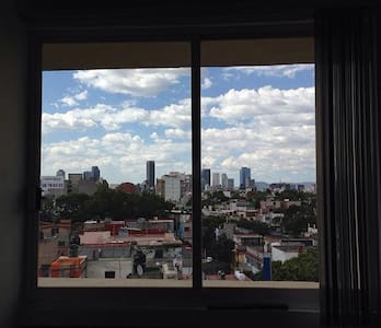 Own bathroom and panoramic view - Ciudad de México - Apartment