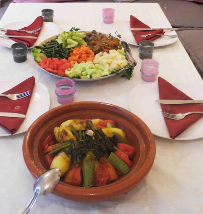 Enjoy delicious Moroccan cuisine.