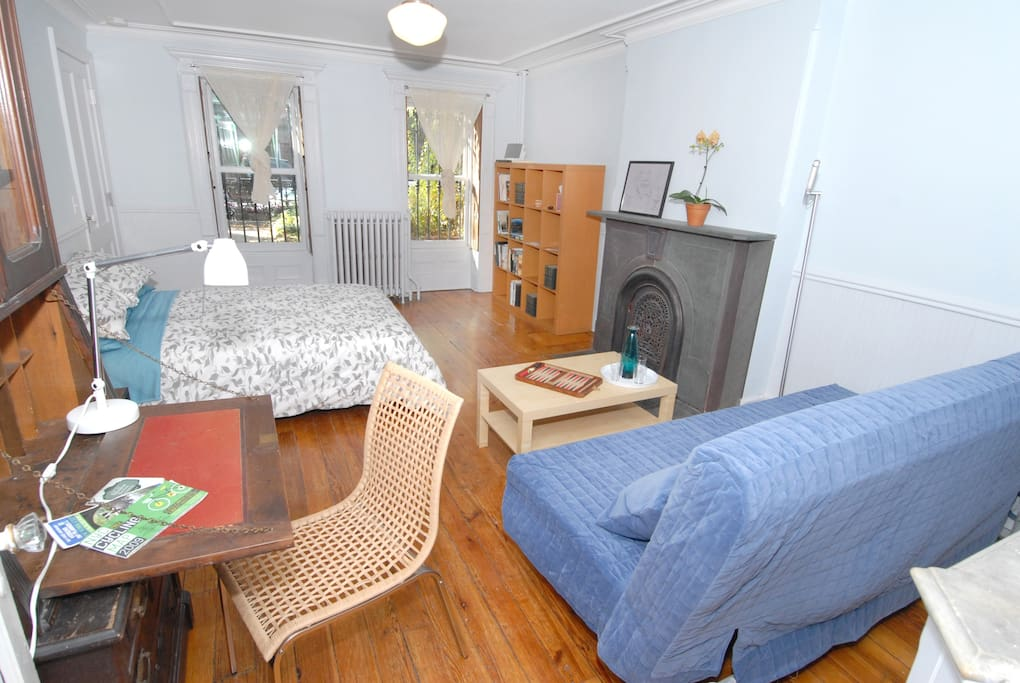 Bright, sunny room with private entrance