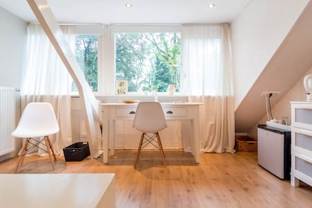 Bright attic with private bathroom - Ház