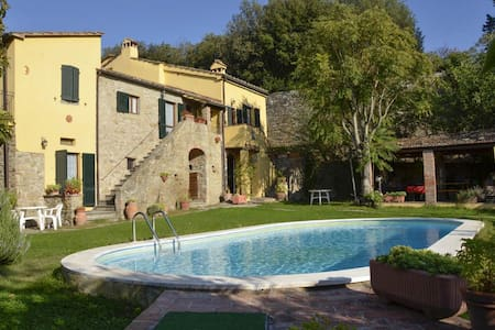 "Our property is an old rural Tuscan cottage, located at the foot of the hill of Cortona, in an environment rich in Etruscan history ""unique in its kind"",  and it is the result of long and accurate work of restoration."