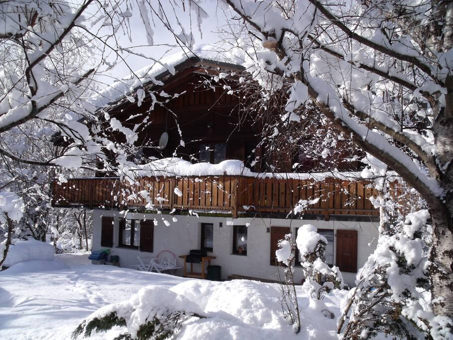 Chalet en hiver sud ouest