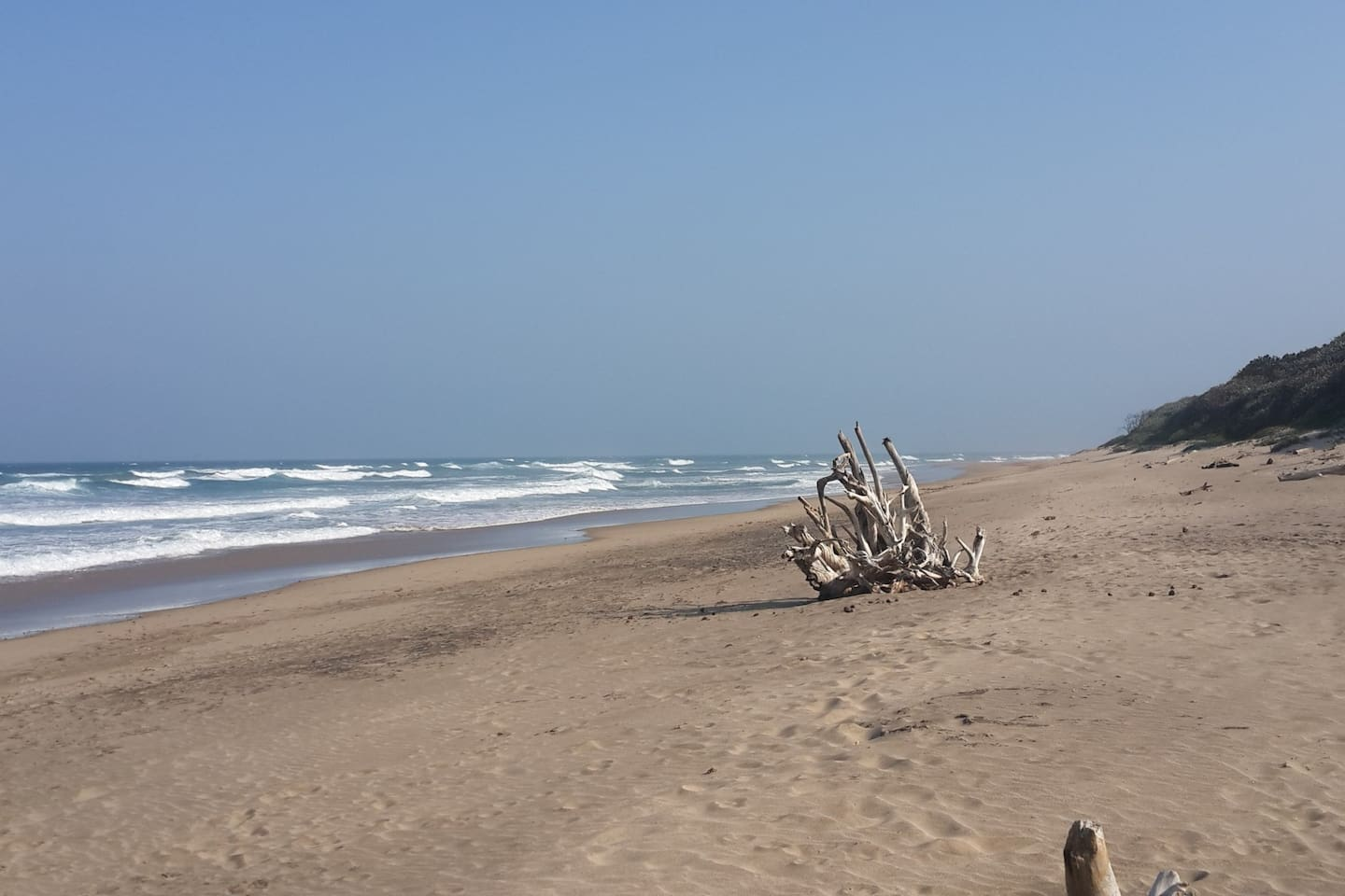 Pristine beaches with fine white sand 7 mins walk from house