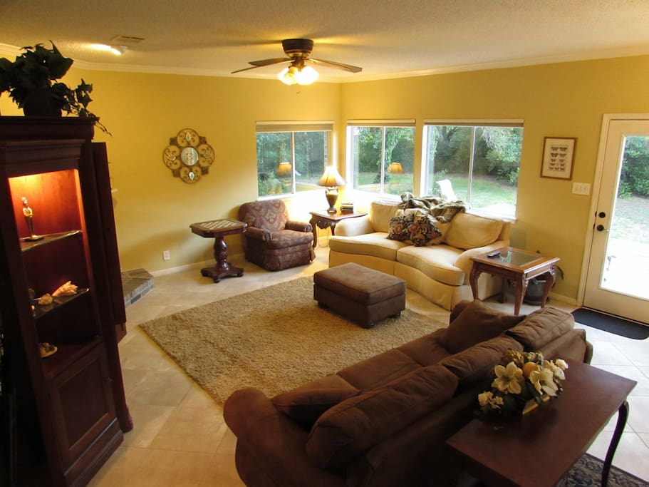 One of Two Spacious Living Area for Guests to Lounge