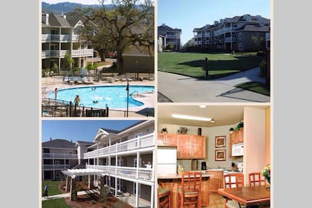 The WorldMark Windsor resort is located on ten acres. Windsor is a small town with deep roots in farming and winemaking. Resort is adjacent to Windsor Golf Course. Beautiful grounds, swimming, and spas await you.