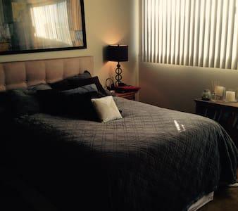 COZY YET MODERN QUEEN BED ROOM