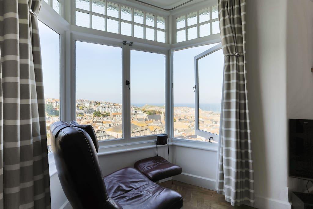 Lounge bay window.