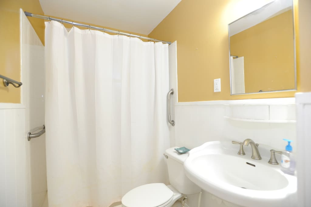 One of the two full-sized bathrooms.
