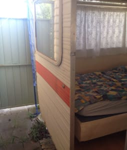 Cute caravan near Bundoora parkland