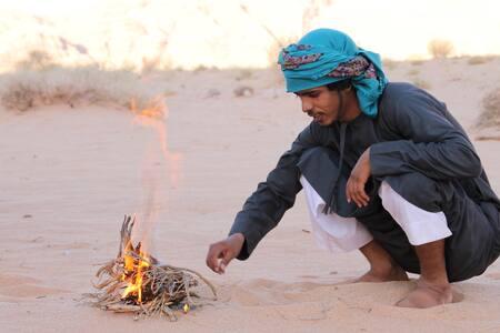 Sleep under the stars in Wadi Rum