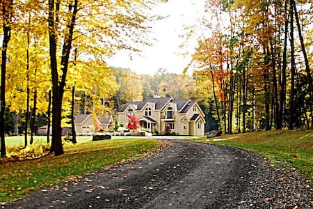 This Elegant Luxury Estate offers 6000+ SF of Living Space on 13+ park-like, sunny acres located within only minutes from the downtown Great Barrington. 6 Bedroom 4.5 Bathroom Sleeps 12; 13+ Private Park-Like Acres, very private; 6000+sf living space