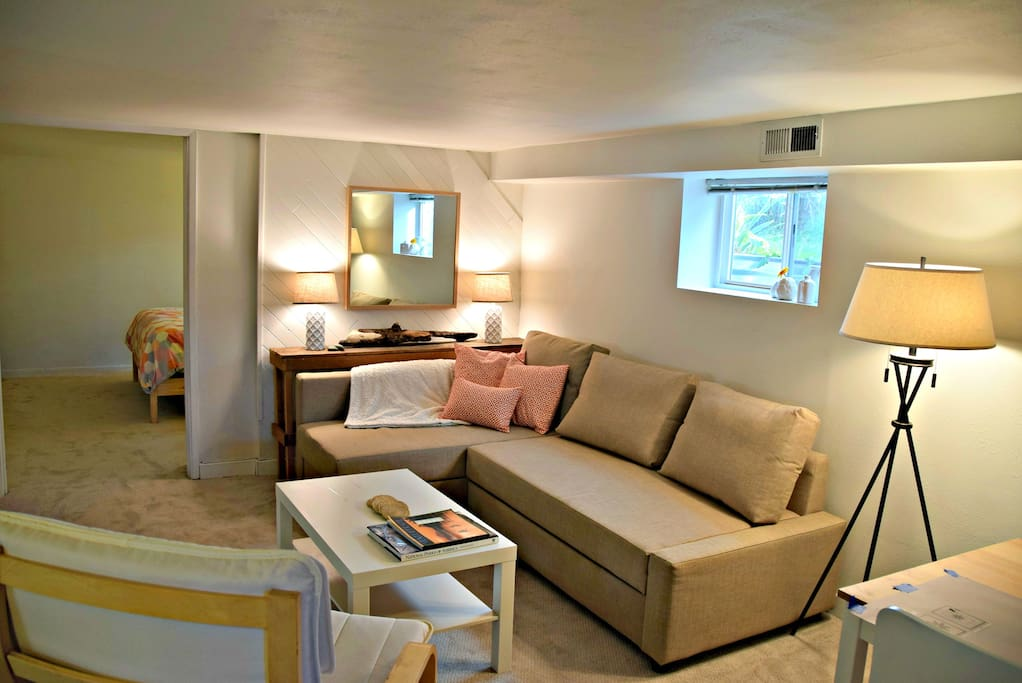 Living Room - the sofa converts to a queen size bed