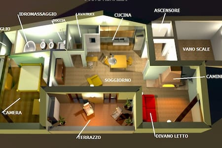 Una suite di un Grand Hotel - Renazzo - Apartment