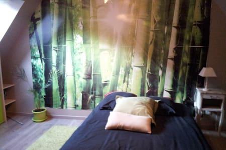 chambre avec sa salle de bain + PDJ - Inap sarapan