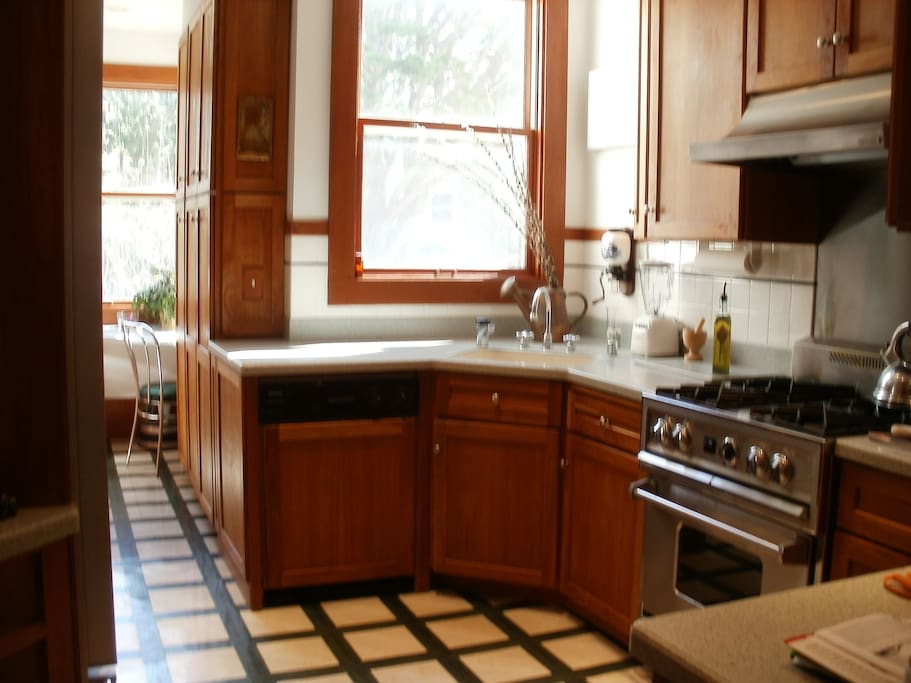 Kitchen with sunny breakfast nook.