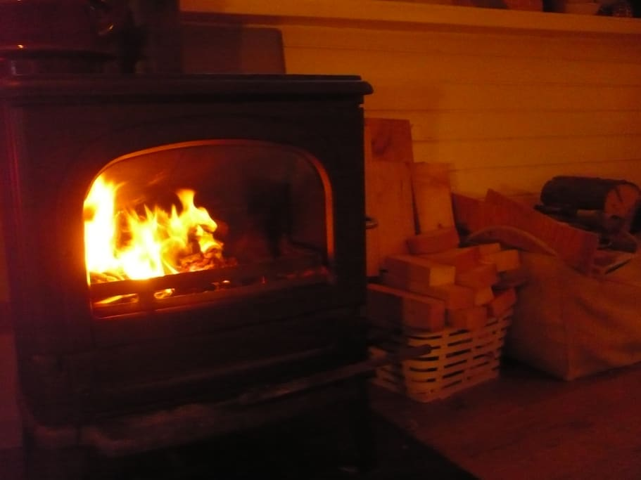 Cozy Evenings, firewood is included.
