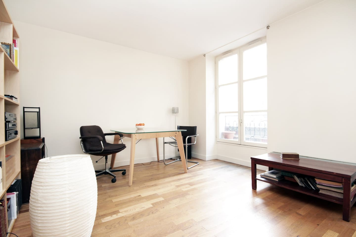 an apartment, quiet, bright and clean