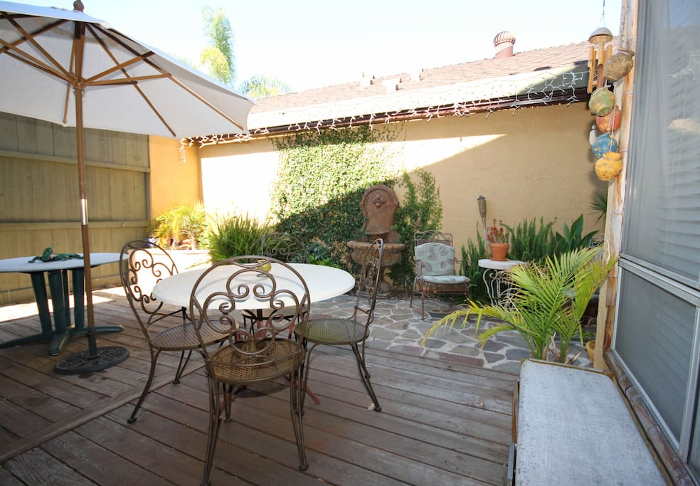Patio Adjacent to Kitchen - tables to eat outside (BBQ also)