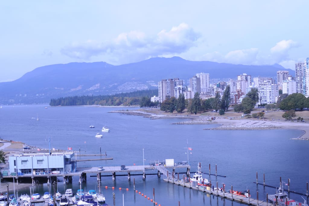 View from Burrard St bridge.