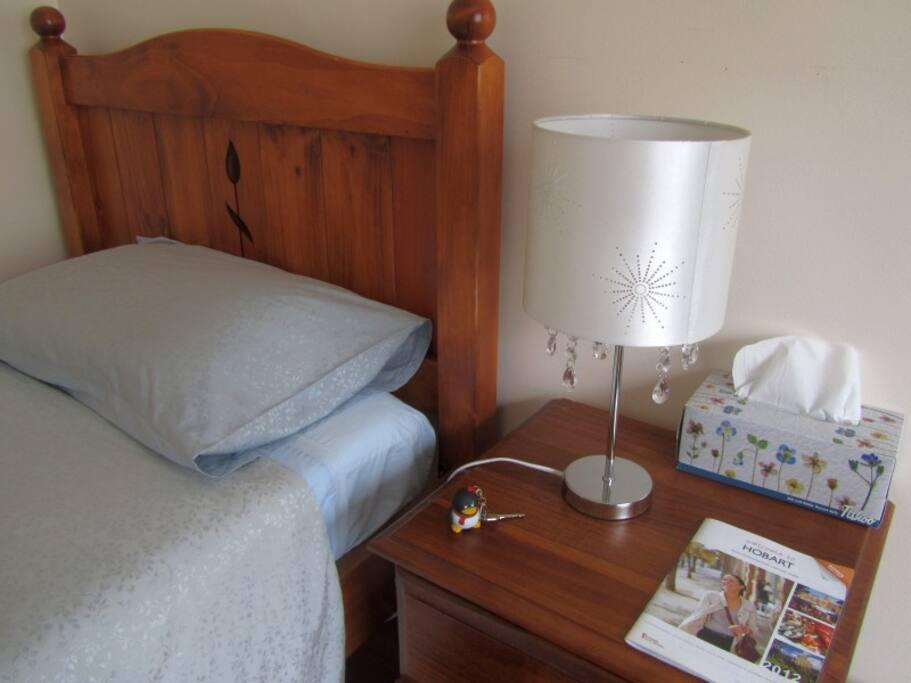 Bedside lamp.
