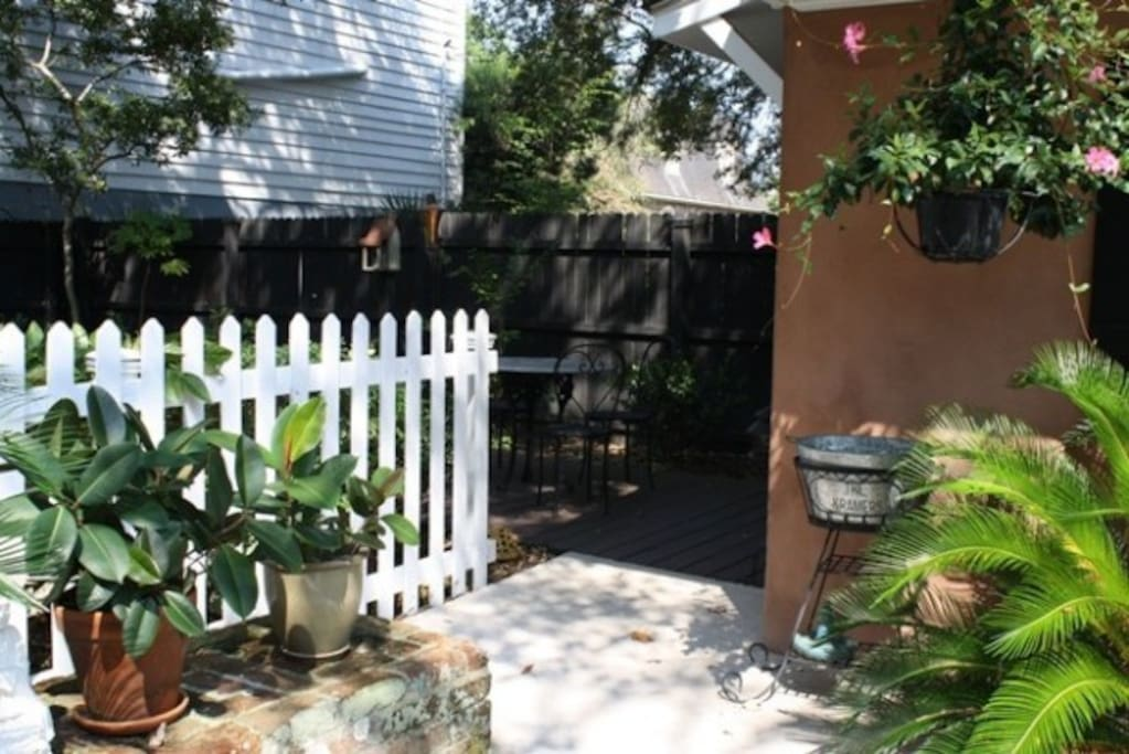 Your private garden patio for one of our beautiful Charleston days.