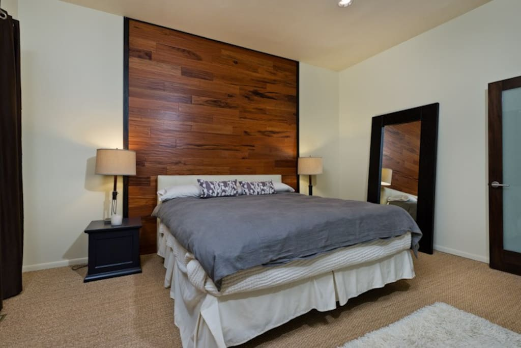This is the guest room on the listing, California King bed