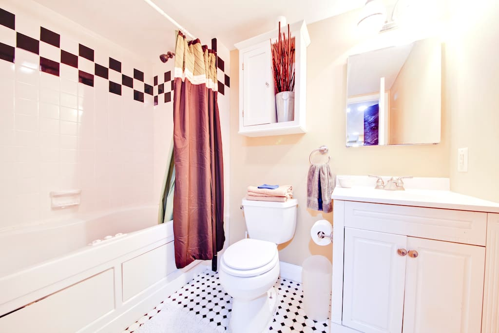 Private bathroom connected to Guest Suite on Cap Hill