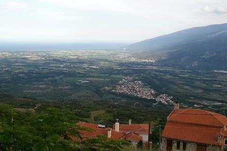 Panoramic sea and Olympus view traditional villa - Radhus