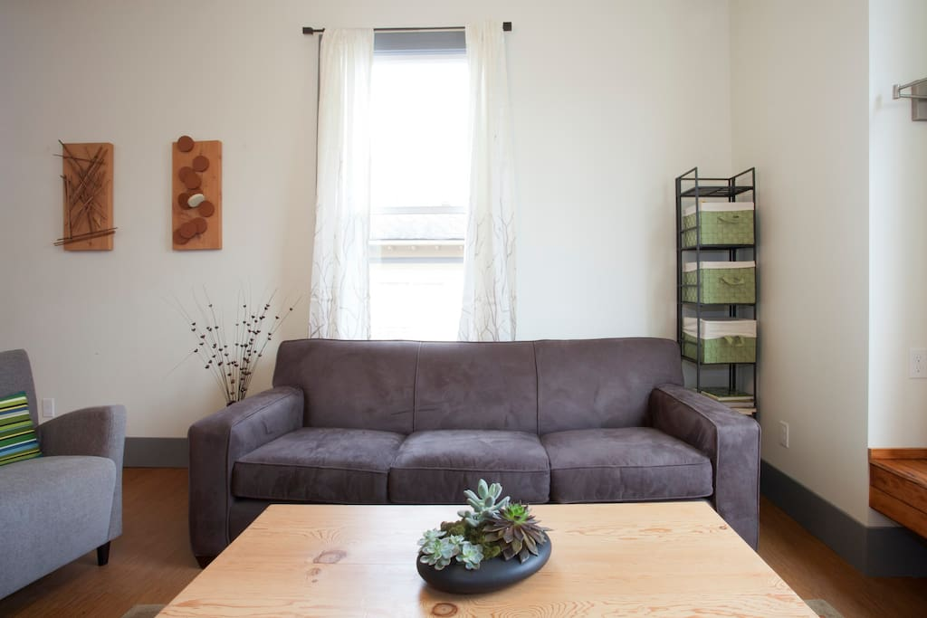 Comfortable seating for catching up and long conversations!