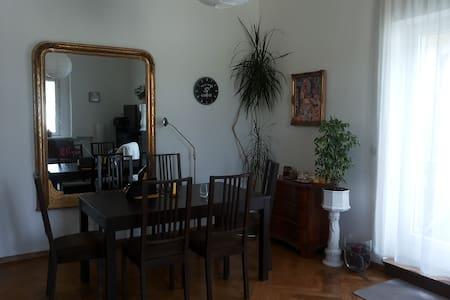 Großes Wohnzimmer mit Luftbett - Apartment