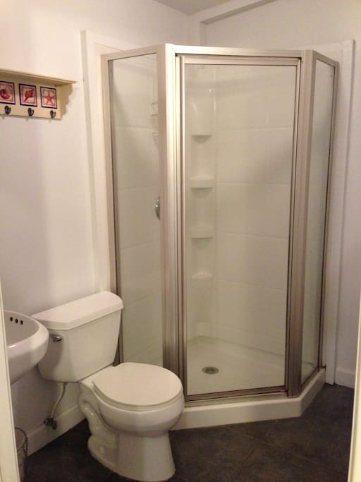 Stand up shower in your private bathroom