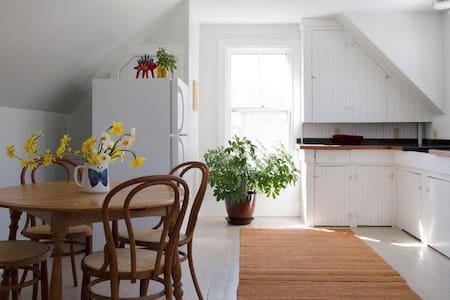 Sunny apartment, wood floors, walk to town. - Lakás