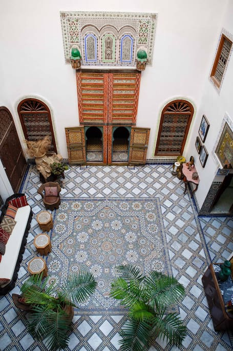 the courtyard as seen from your room